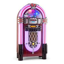 SUPER XXL JUKEBOX MUSIKBOX MP3 CD PLAYER UKW BLUETOOTH USB SD SLOT CHROM DEKOR
