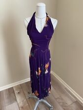 Vintage Contempo Casuals 1970s/1980s Halter Hawaiian Floral Print Dress XS