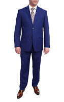 Mens 42S Men's Raphael Slim Fit Solid French Medium Blue Two Button 2 Piece F...