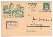 Stationery P178 Nuremberg Dürerjahr 1928 Henkersteg Leipzig Advertising Stamp !