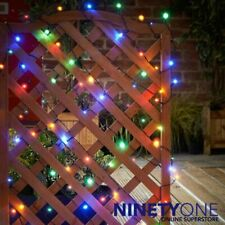 Solar LED String Lights 240pk Multicolour Garden Gazebo Tree Trellis Deck Post