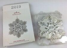 Hallmark 2019 Christmas Keepsake Snowflake Porcelain Tree Ornament