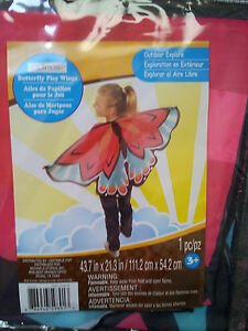 Butterfly or Fire Bird Wings Pretend Play Multi Color Boy's Girl's Creatology 3+