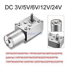 DC12V/24V 0.5-250RPM High Torque Turbo Worm Gear Speed Motor Reduction 6mm Shaft