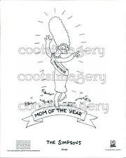 1988 Marge Simpson Mom of The Year Simpsons Cartoon TV Show Press Photo