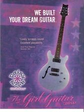 PROMO PRINT AD FOR Daisy Rock The Girl Guitar Company