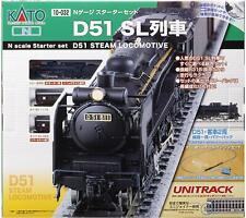 Kato 10-032 Starter Set D51 Steam Locomotive Train N Scale