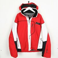 Vintage FILA Small Logo Hooded Coat Jacket Red | Large L
