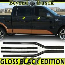 2004-2008 Ford F150 4Dr Crew Cab GLOSS BLACK Window Sill Trims Covers Overlay