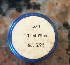 "Vintage 571 Third Wheel #295  7/8"" Elgin Parts Container"