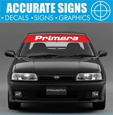 NISSAN PRIMERA GT WINDSCREEN BANNER SUNSTRIP TOURING CAR BTCC STICKER DECAL