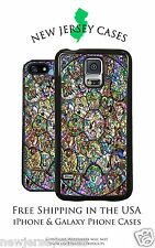 Disney Colors Stained Glass Disney Characters Apple, Samsung, Google Phone Case