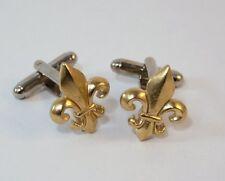 Fleur de Lis Cufflinks by Hoardersworld, Handmade in Gold Plated English Pewter