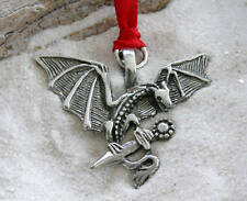 GOTHIC DRAGON DAGGER Pewter Christmas ORNAMENT Holiday