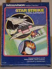 Star Strike Game for Intellivision I II Mattel overlays instructions & Box