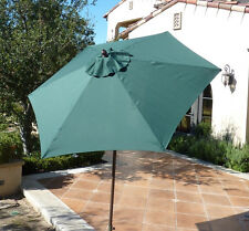 7.5 ft Aluminum market umbrella, Crank and Tilt  - Hunter Green