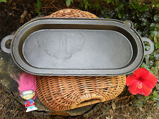 Cast Iron Fish Fryer Long Deep Griddle  7 with Gate Mark, Clean  Level Nice