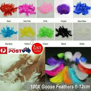100X Craft Feathers Goose Feather DIY Art Party Decoration Wedding Dream Catcher