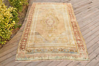 Turkey Rug 49''x83'' Vintage Unique Oushak Soft Color Oriental 4x6 Rug 127x212cm