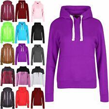 Womens Jumper Long Sleeve Hoodie Ladies Fleece Top Jacket Hood Hooded Sweatshirt