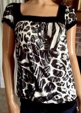 Sugarspice Jr.(S) Cap Sleeves,Animal Print, Blouson,Poly/Blend,Tunic/Top