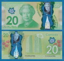 CANADA 20 Dollars P 108b 2012 UNC Polymer WILKINS & POLOZ, Low Shipping! P 108 b
