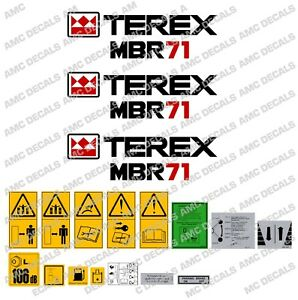 TEREX MBR71 ROLLER DECALS STICKER SET