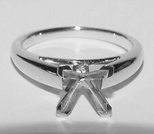Designers PLATINUM Mounting Setting For Princess Diamond Ring Sz 7 HEAVY 8.3Gr