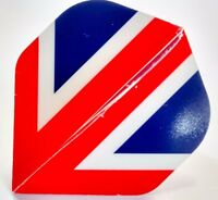 5 SETS 100 MICRON UNION JACK DART FLIGHTS - Extra Tough Strong dart flights