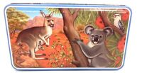 Australian Outback Kangaroo Koala Decorative Tin Collectible Metal Container Box