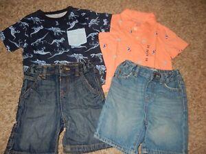 7L Set of 4 NWT 18-24M The Children's Place Polo Shirt & Denim Jeans Shorts