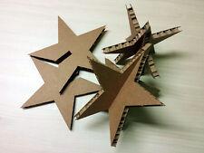 Stelle di Natale 3D cartone nidoboard H 20cm decorazione casa e vetrine. 30 pz