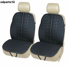 Ford Suzuki Audi Paire Housses de Sièges Auto 1+1 En Tissu Noir Résistant