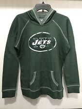 Womens New York Jets Hoodie Pullover Large Green NFL Team Apparel