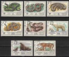 RUSSIA,USSR:1970 SC#4626-33 Used CTO Protected Fauna Snake Polar Bear Tigern1305