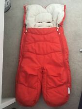 STOKKE XPLORY RED COSY TOES SPLIT LEG FOOT MUFF VGC! Fleece lined for WINTER