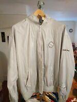 Vintage Izod Club Pebble Beach Golf Nylon Wind Breaker Jacket Mens XL 1991 90s