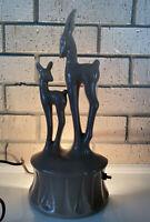 Vintage KRON Mid Century 1950s Deer Fawn TV Lamp Night Light Art Deco Texas