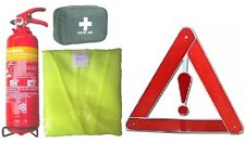 TAXI/HGV SAFETY KIT. CABS TAXIS HIRE VEHIC .EXTINGUISHER+HI VIZ+1ST AID+TRIANGLE