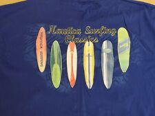 Vintage 90's Nautica Surfing Classics Blue T Shirt Size XXL EUC
