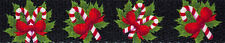 Country Brook Design® 5/8 Inch Black Candy Cane Polyester Webbing, 5 Yards
