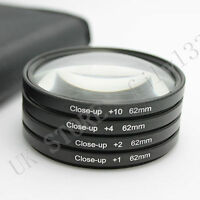 New 62mm Macro Close Up +1 +2 +4 +10 Lens Filter Kit For Canon Nikon Sony Tamron