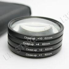 New 62mm Macro Close Up +1 +2 +4 +10 Lens Filter Kit For Canon Nikon Sony Tamron