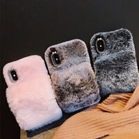 Soft Warm Plush Fluffy Phone Case Cover Comfy Faux Fr Fur iPhone X XR XS Max 8 7