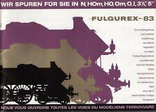 catalogo FULGUREX 1983 Spur N HOm HO O Om I 3½'' 5''     D F     aa