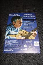 TOMMY EMMANUEL + JOSCHO STEPHAN signed Autogramm auf 15x20cm Flyer InPerson LOOK