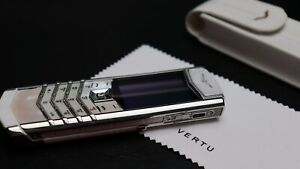 Vertu Signature S Design Pearl Diamond White Cellular Phone Bvlgari