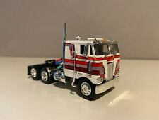 "NEW WHITE WITH STRIPES DCP 1/64 352 PETERBILT COE 86"" SLEEPER"