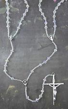 Wedding lasso lazo rosary beads iridescent bicone glass large double rosary