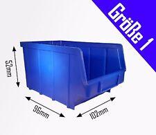 1 Stück Stapelboxen blau Gr.1 (102x96x52 mm) Kunststoff PP Sichtlagerkästen